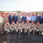 Собянин, Шойгу и Собянин заложили военно-патриотический центр в Подмосковье