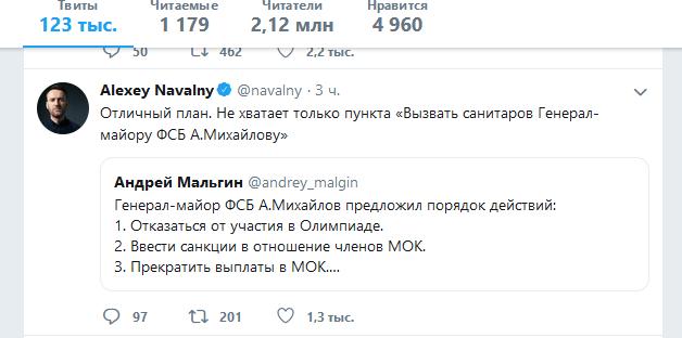 Ответ Навального генералу Михайлову