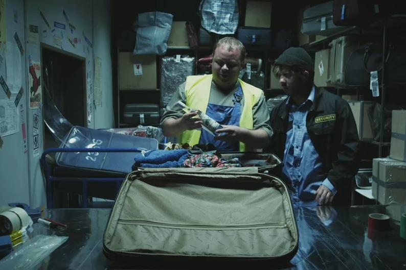 Разгрузка багажа
