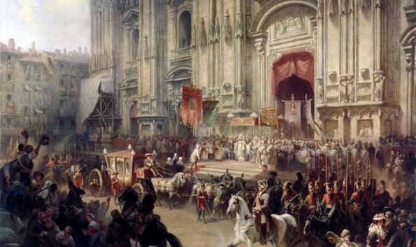 Торжественная встреча A.B. Суворова в Милане