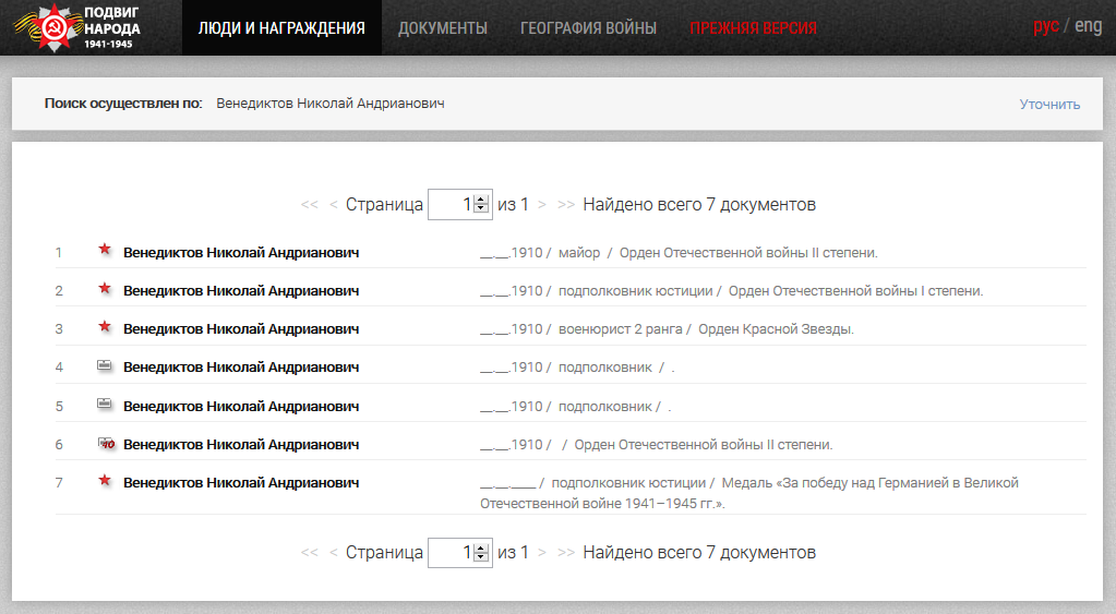 Сайт «Подвиг народа»