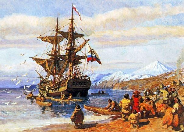 Русский флот на Аляске.