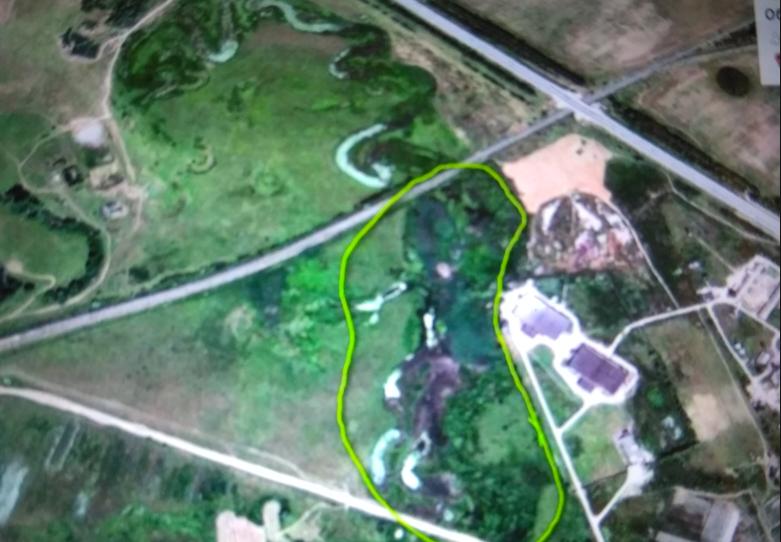 Озеро Вьюново на картах Google Maps.