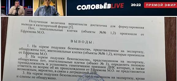 , Обнародованы результаты экспертизы МВД по делу Михаила Ефремова