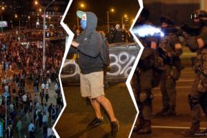 протестов, Смерть, слезоточивый газ и покушение: как прошла вторая ночь протестов в Белоруссии