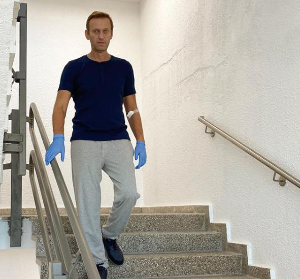 Алексей Навальный в клинике Шарите