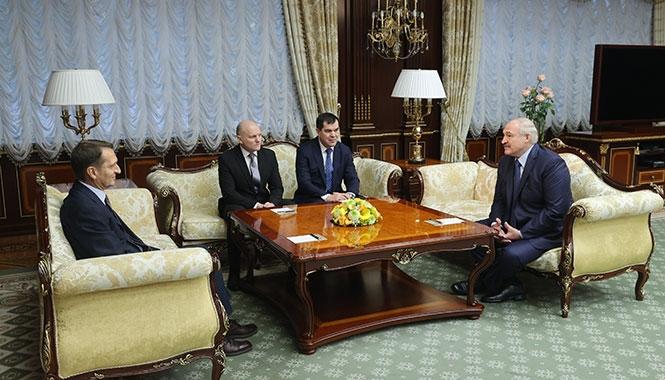 Встреча Сергея Нарышкина и Александра Лукашенко