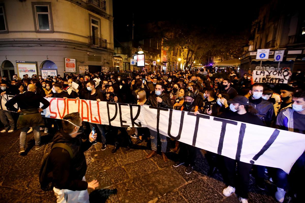 Протесты против карантинных мер, Италия