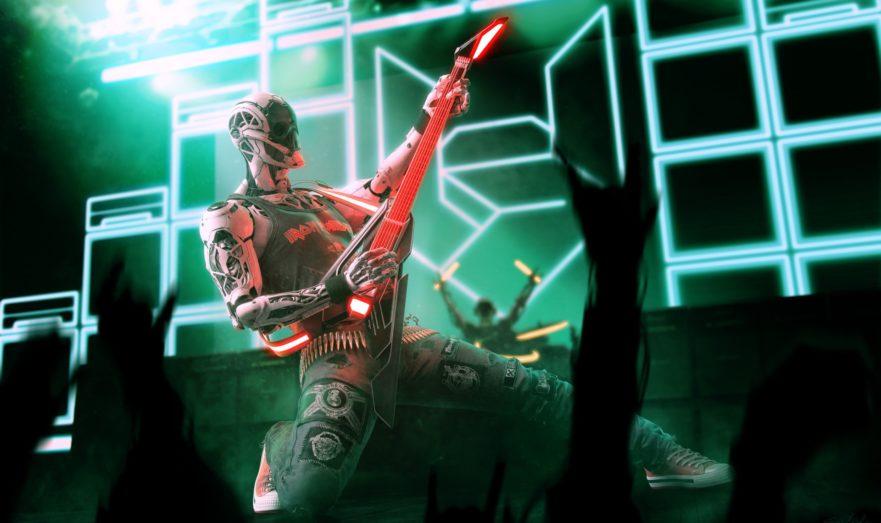 Гитарист киберпанка