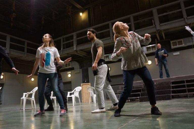 Репетиция в Театре Антона Чехова
