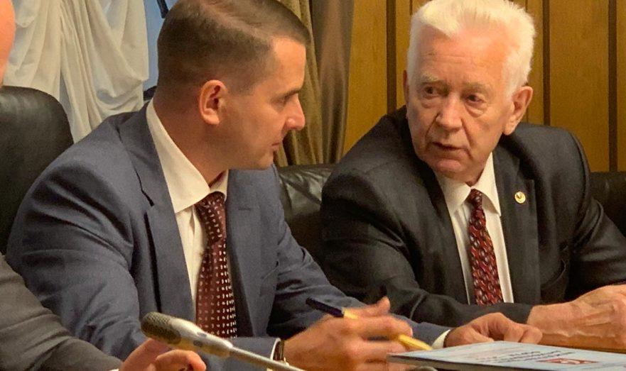 Ярослав Нилов на встрече с бывшими малолетними узниками концлагерей