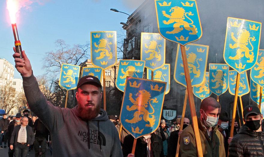 Марш в честь дивизии СС «Галичина» в Киеве