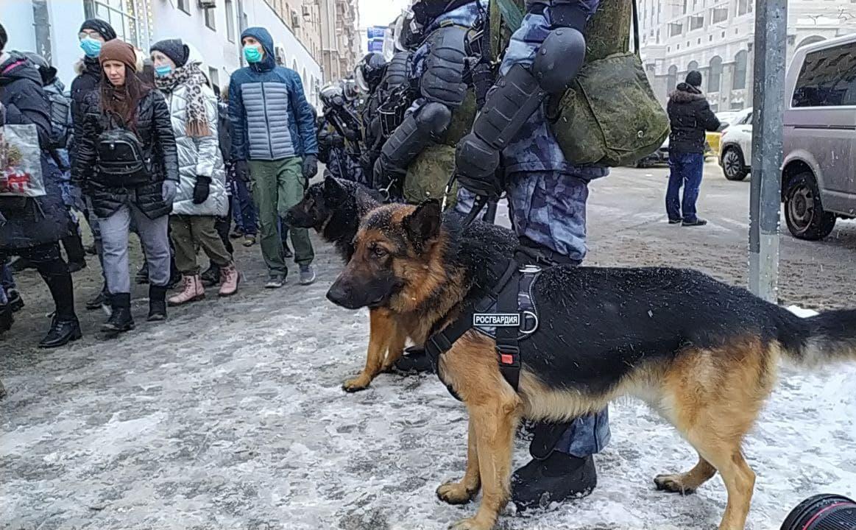 Росгвардия. Москва, январь 2021