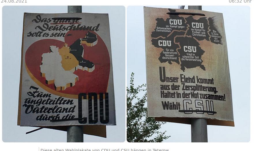 Копии плакатов с Калининградом 72-летней давности в Германии