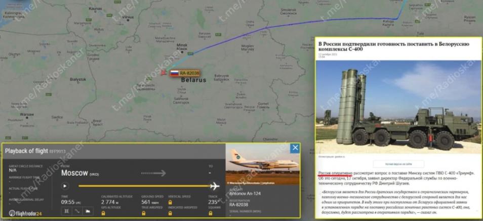 Россия начала срочно перебрасывать в Белоруссию С-400 из-за угроз Украины